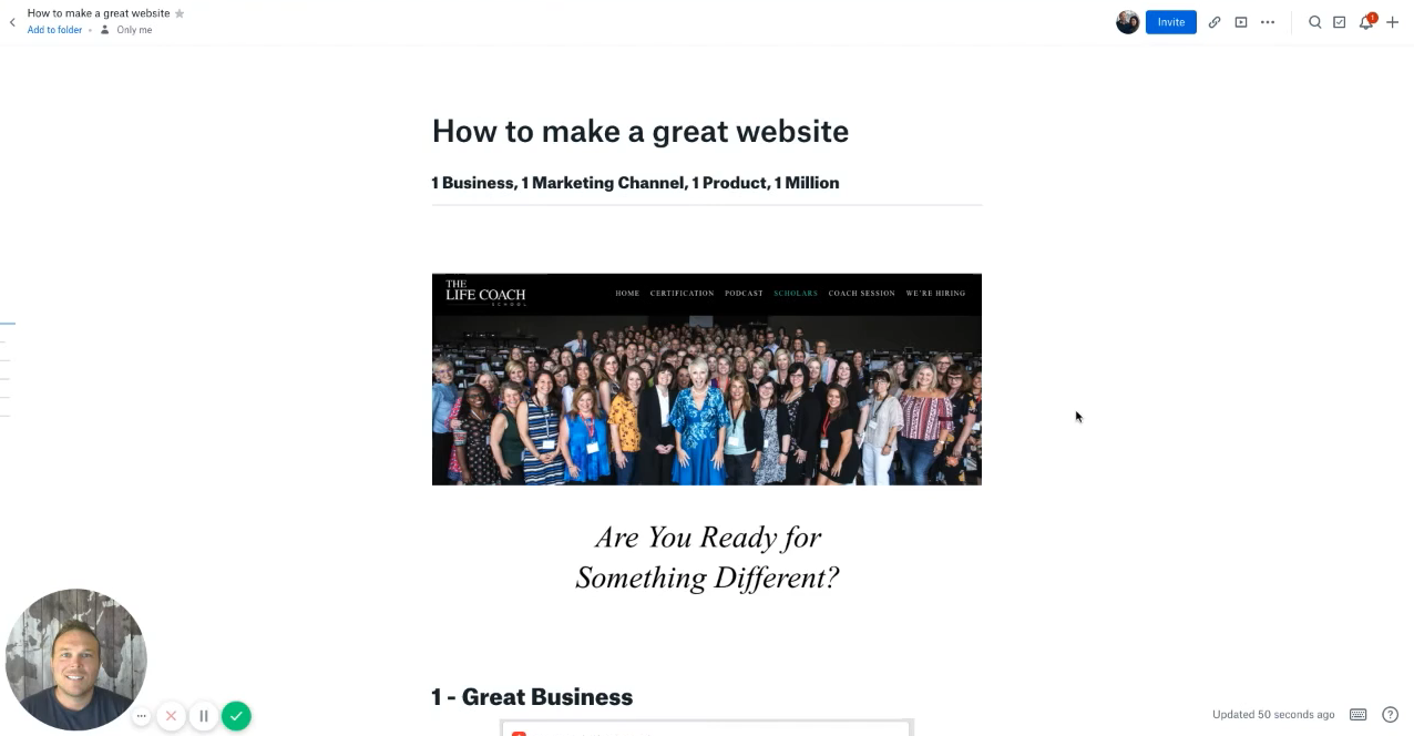 How to make a great website
